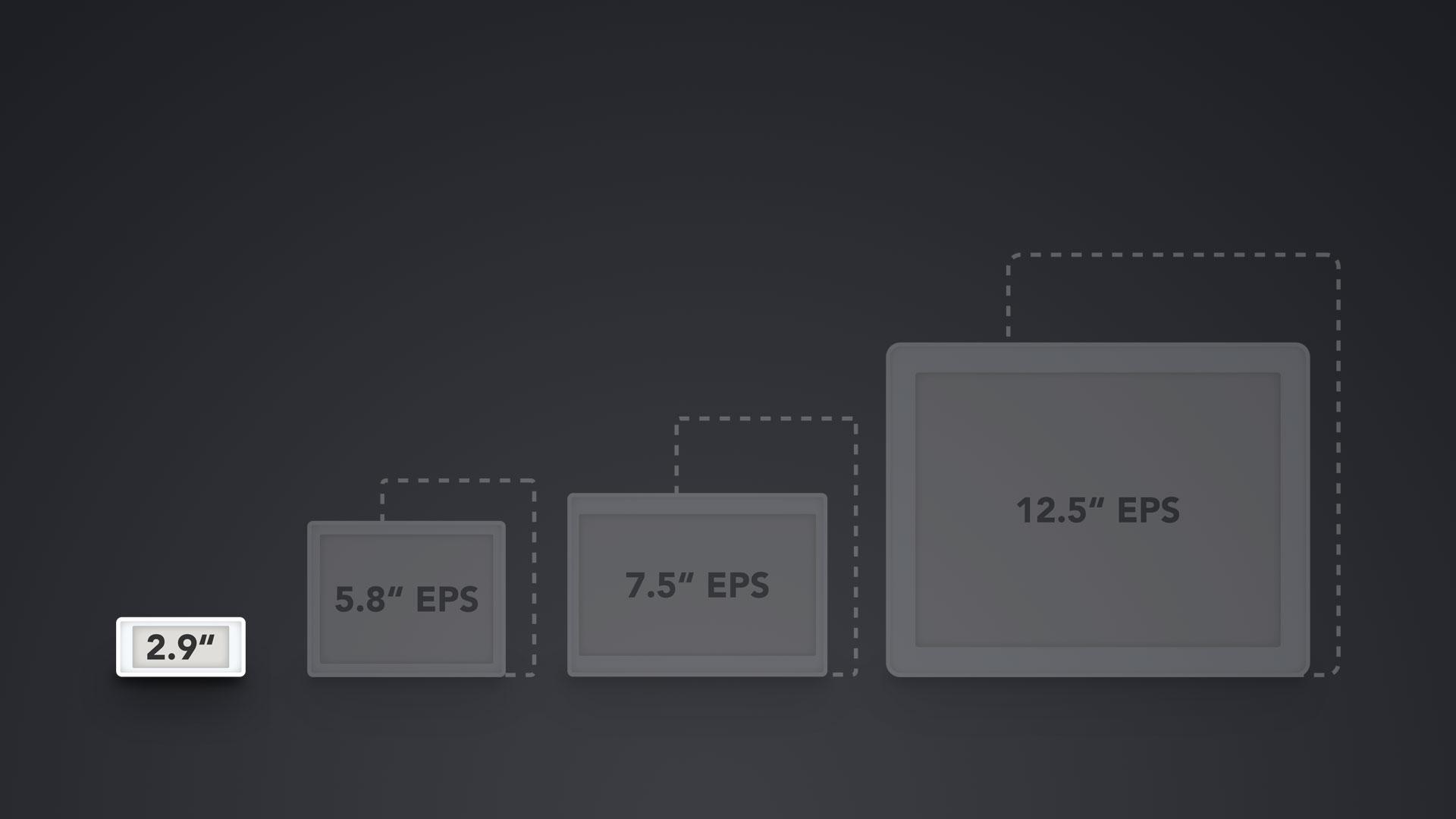 """Vergleich ESL Displays 2.9"""""""