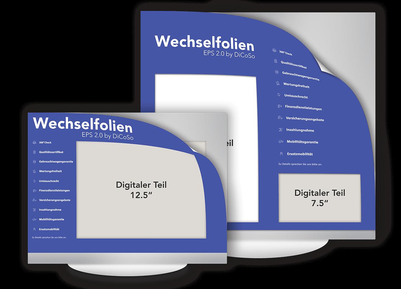 EPS 2.0 by DiCoSo Wechselfolie Elektronisches Preisschild 7.5 Zoll und 12.5 Zoll