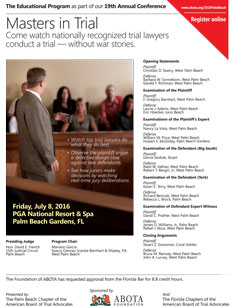 Masters in Trial® magazine cover image