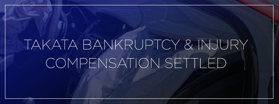 takata airbag bankruptcy settlement