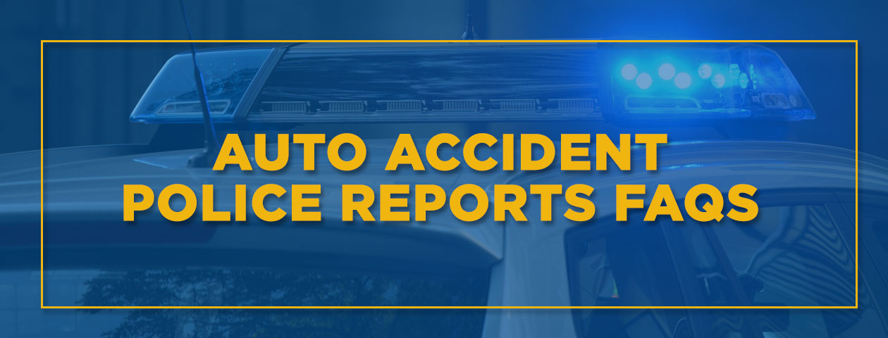 auto accident police reports FAQs police car with lightbar on