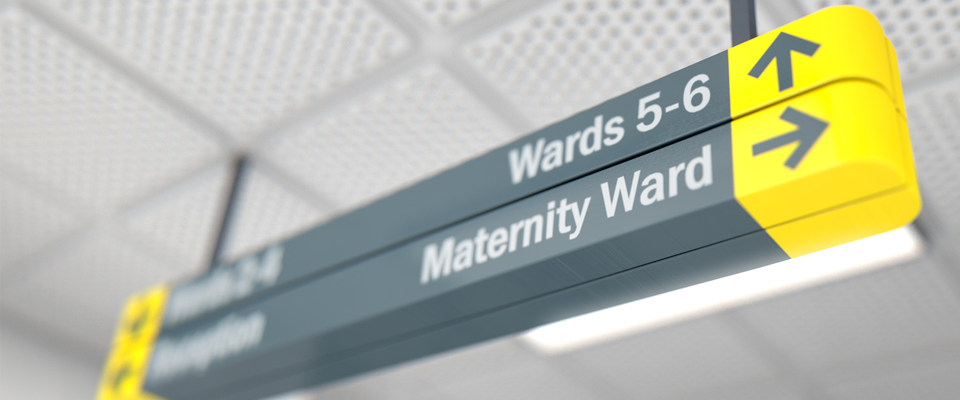 maternity ward sign in hospital