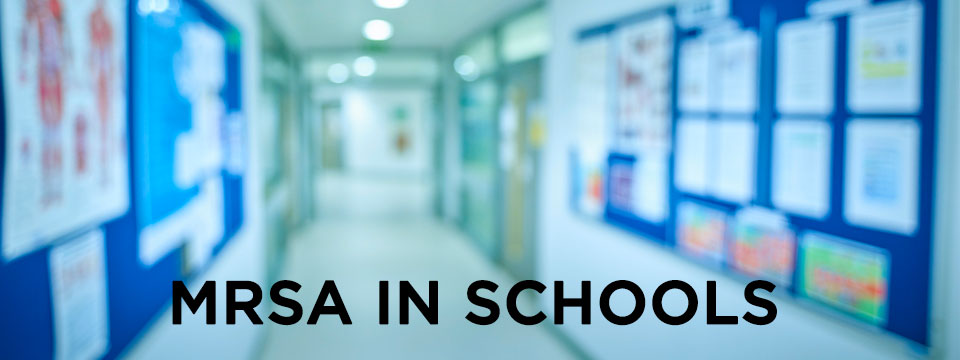 MRSA in schools: school hallway