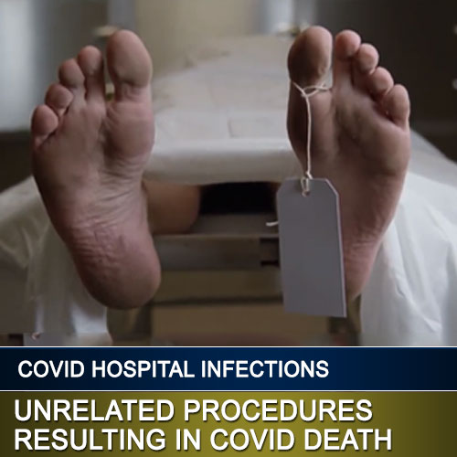 feet with toe tag - unrelated procedures resulting in covid death