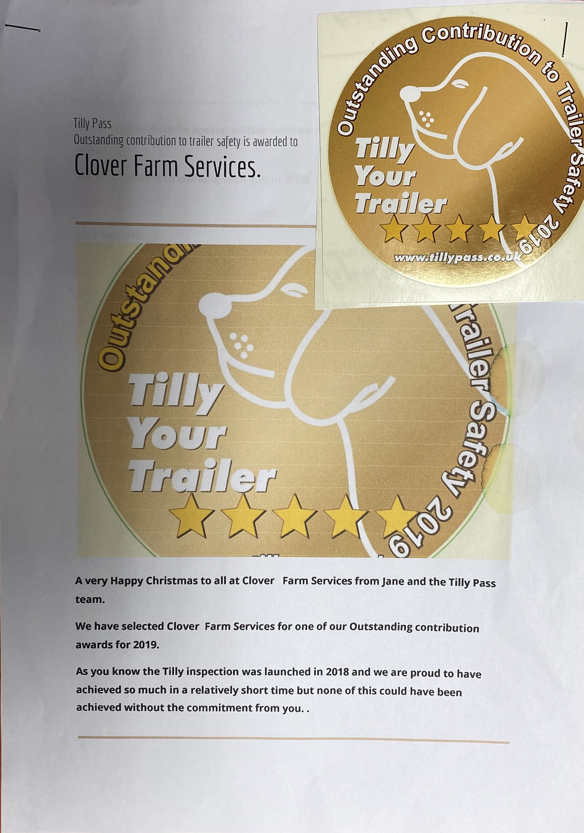 Tilly Pass - Outstanding Contribution Awards 2019
