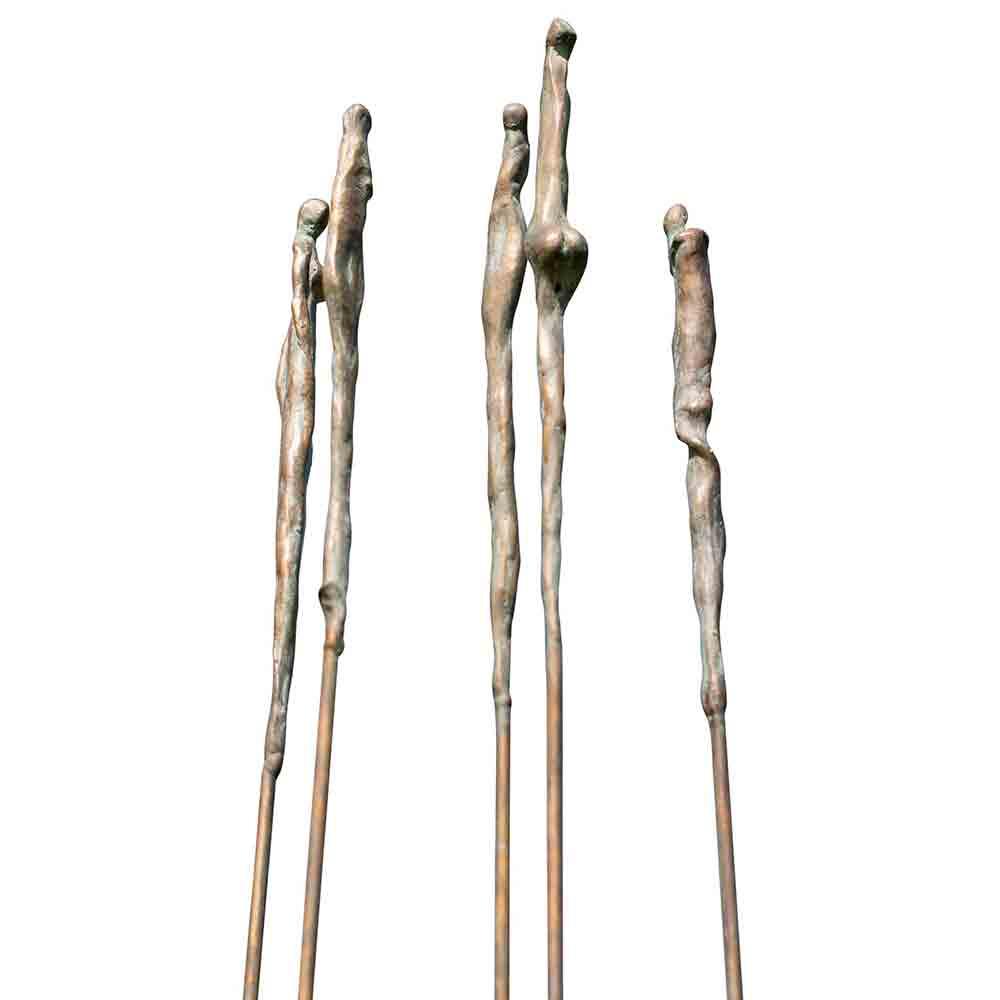 5 tinten grijs Beeld Brons door Veri Wisman