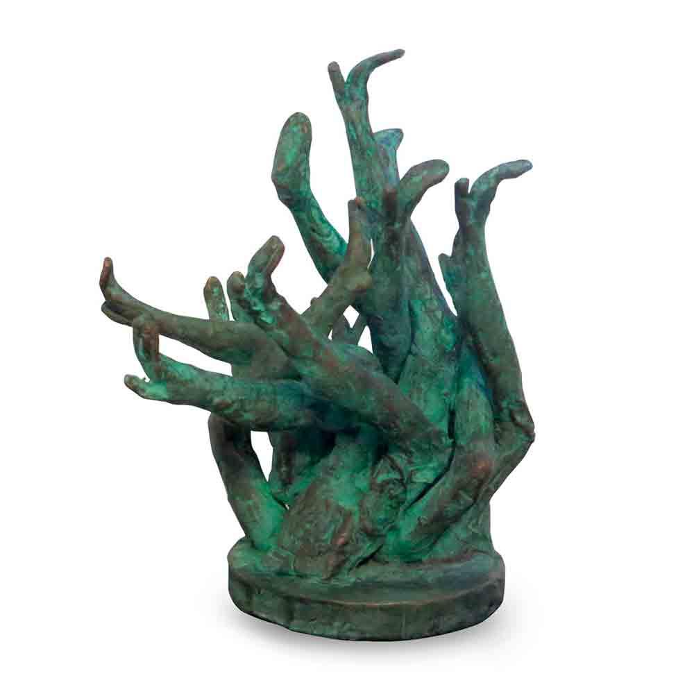 Dansende benen Bronzen Beeld Project Verborgen Benen door Veri Wisman