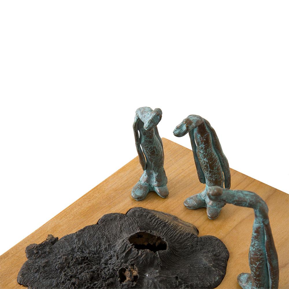 Beeld bronsIn gesprek