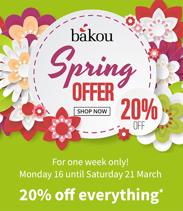 Spring Offer 20% off - one week only
