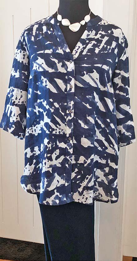 Mellisa modelling Doris Streich Camo Shirt