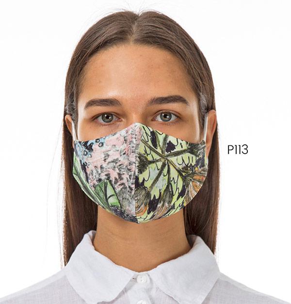 Floral design face mask