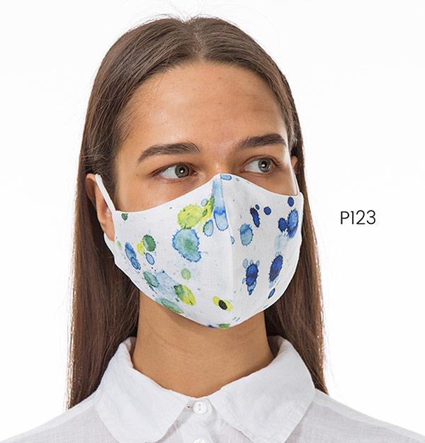 Blue and yellow splat mask