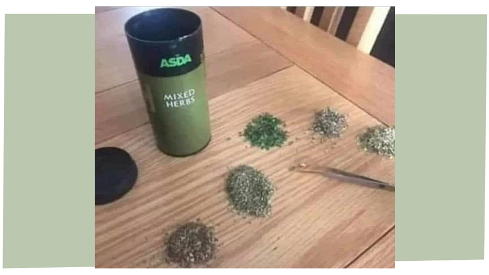 Mixed herbs - now un-mixed