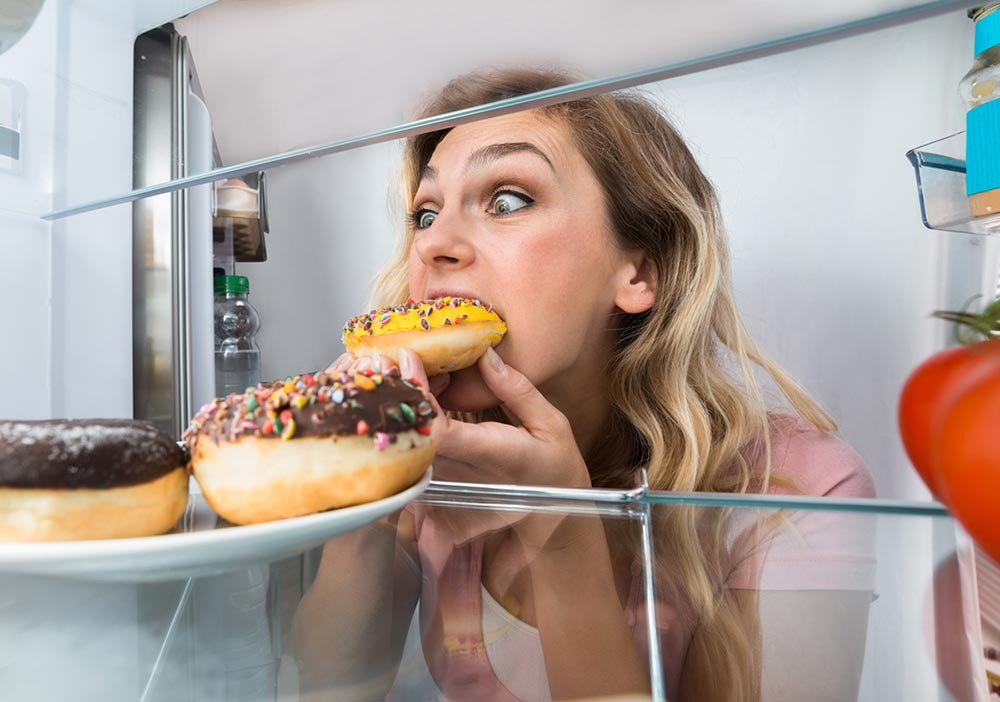 Yum - doughnuts in the fridge