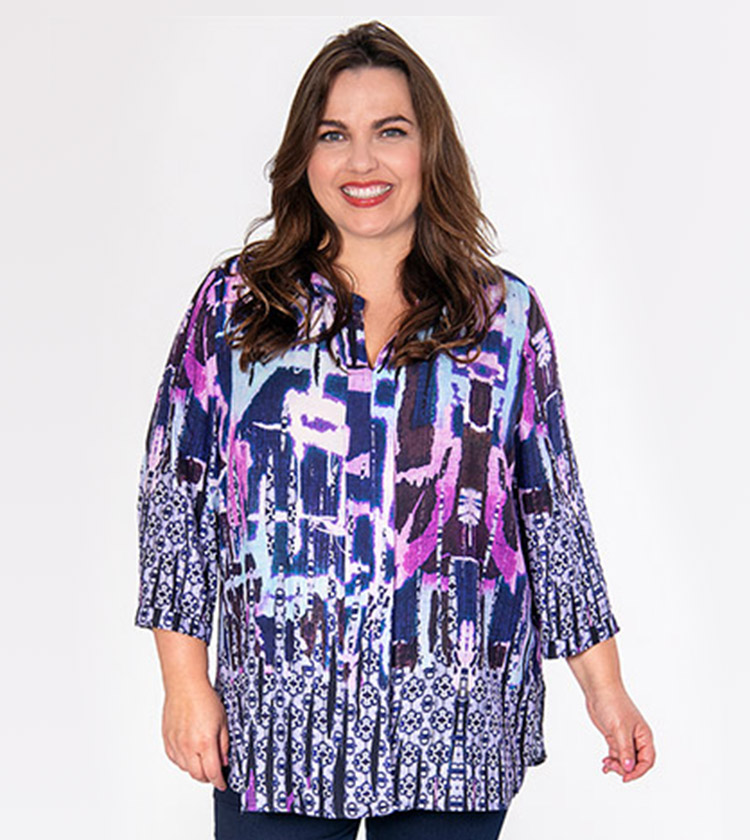 Fabulous Spring dress in pick with purple