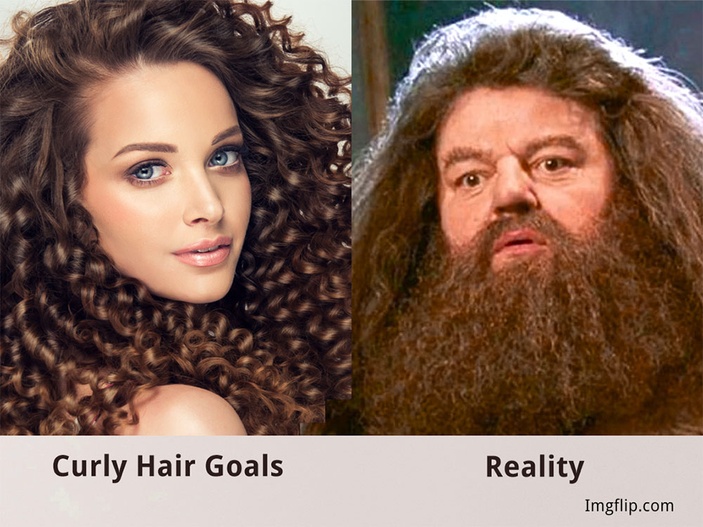 Check out those fabulous luscious curls, wow Hagrid, what a beard