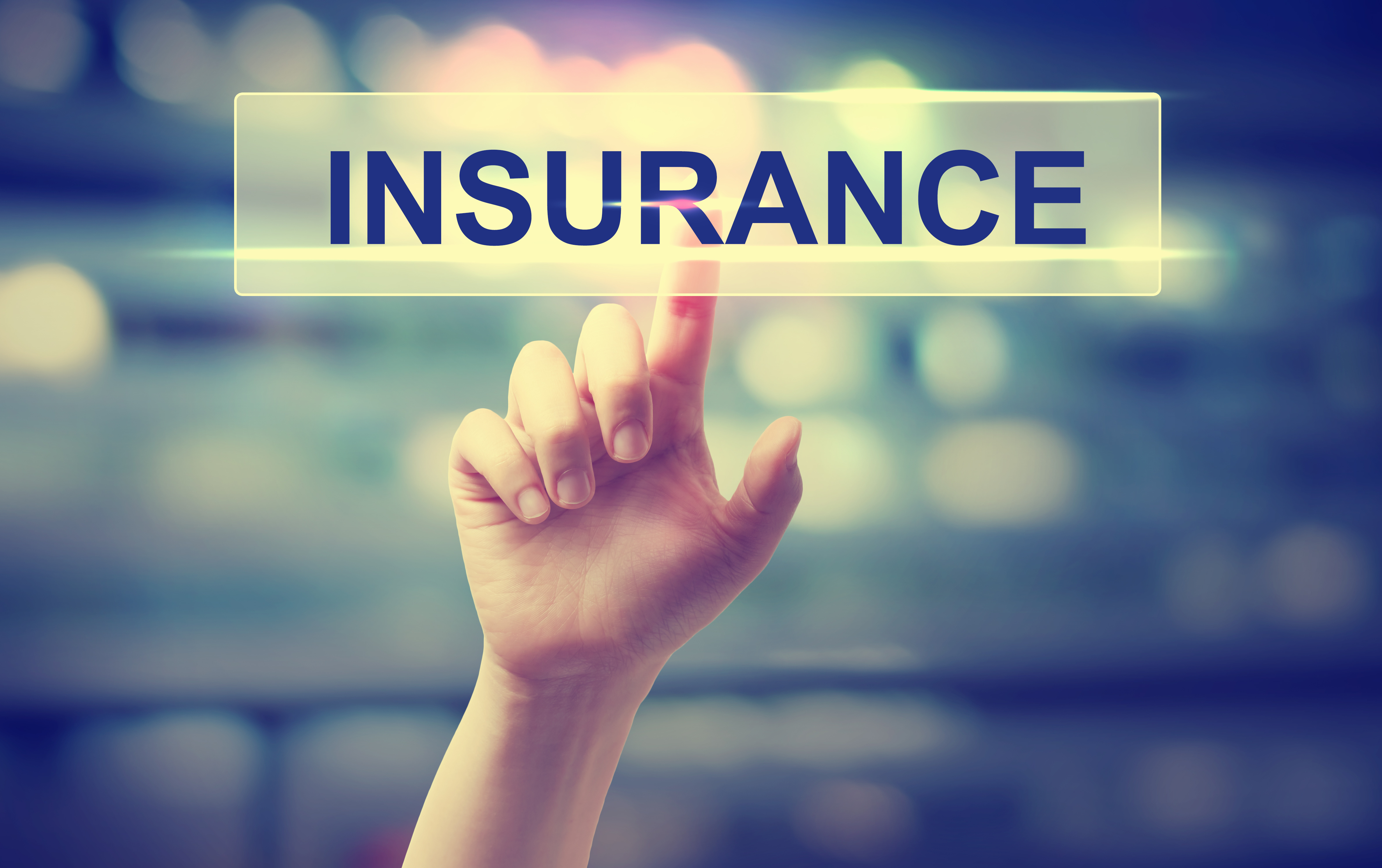Hand clicking on insurance options