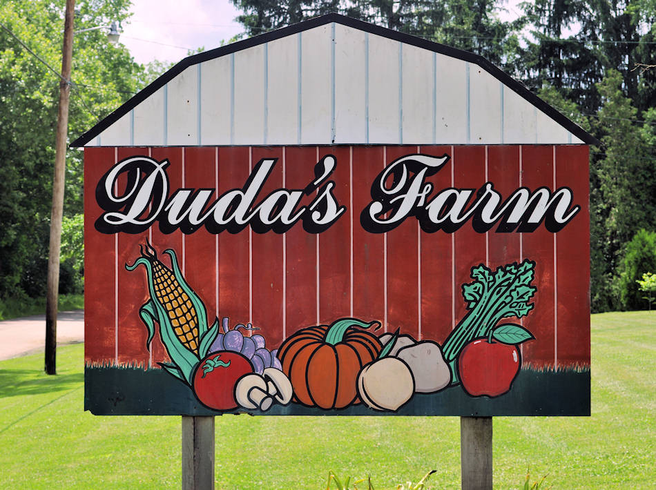 Barn sign with vegetables