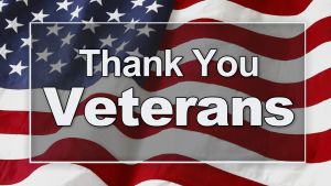 American glad with Thank You Veterans text