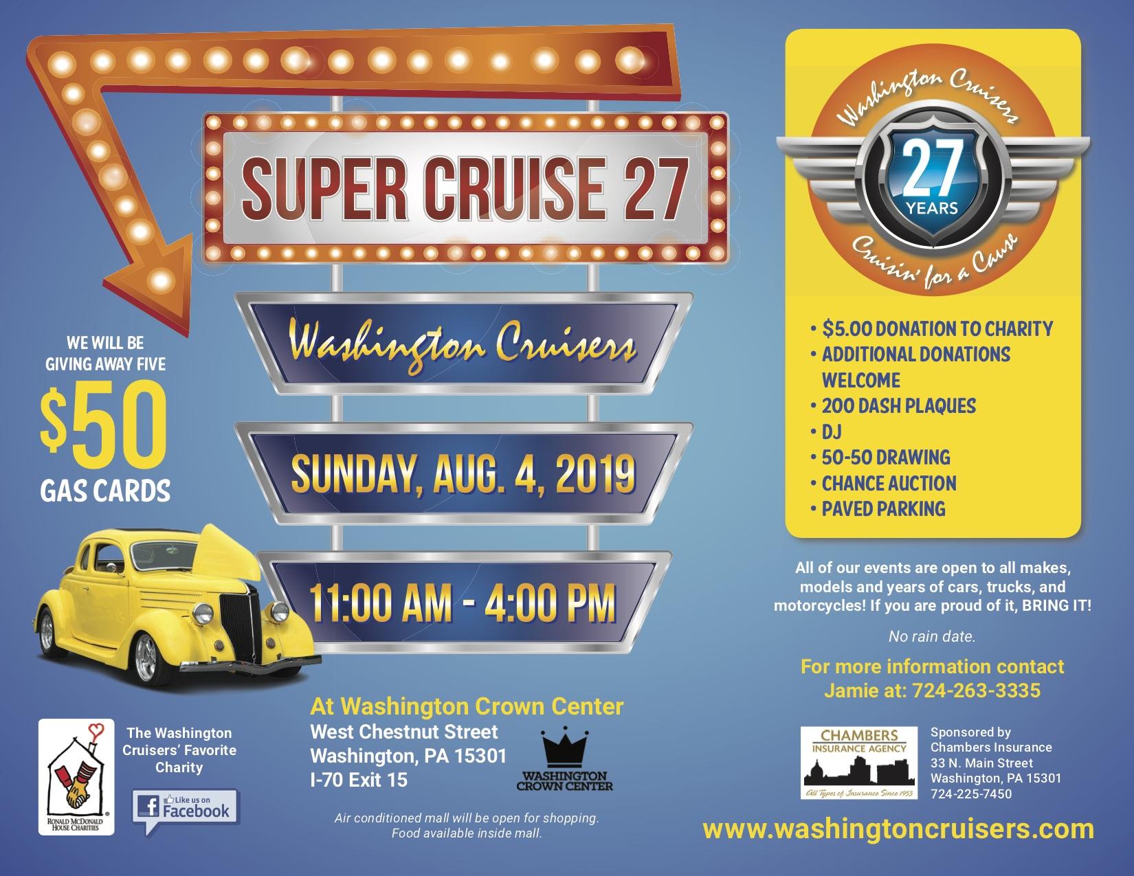 Washington County Cruisers even information