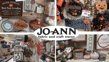 Jo-Ann fabric October decorations