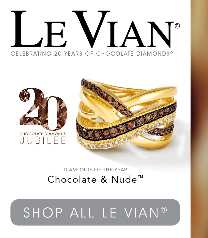 LeVian 20th Anniversary gold ring with chocolate diamonds