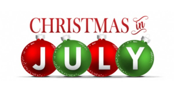 Christmas written in red font with four red and free ornaments each with a letter in each.