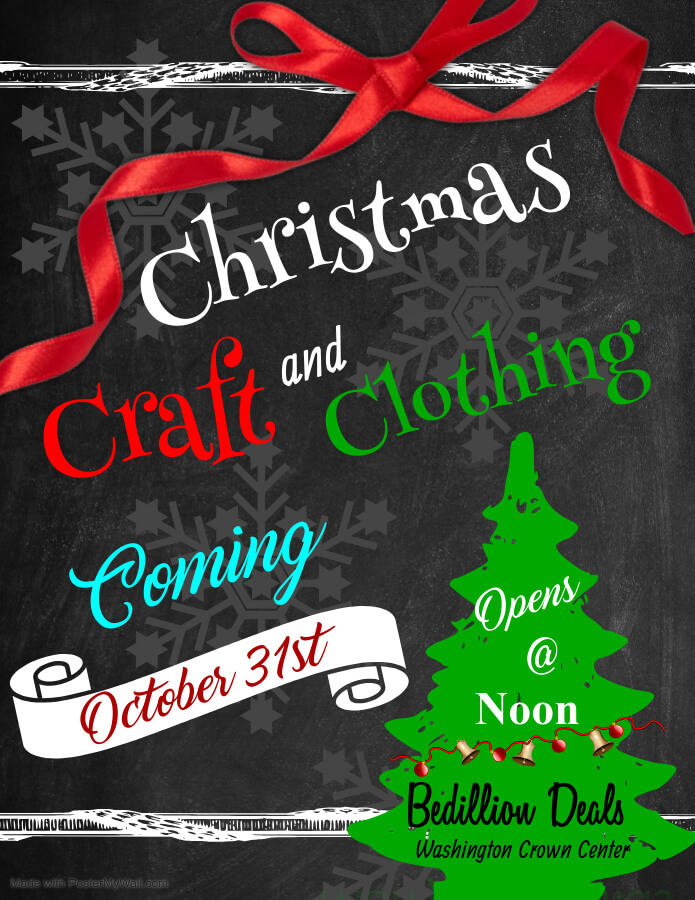 Christmas Craft & Clothing Pop Up poster