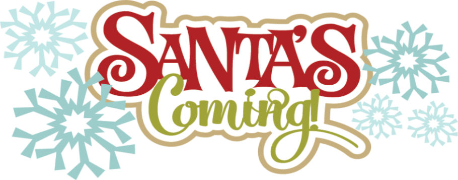 Santa is coming graphic