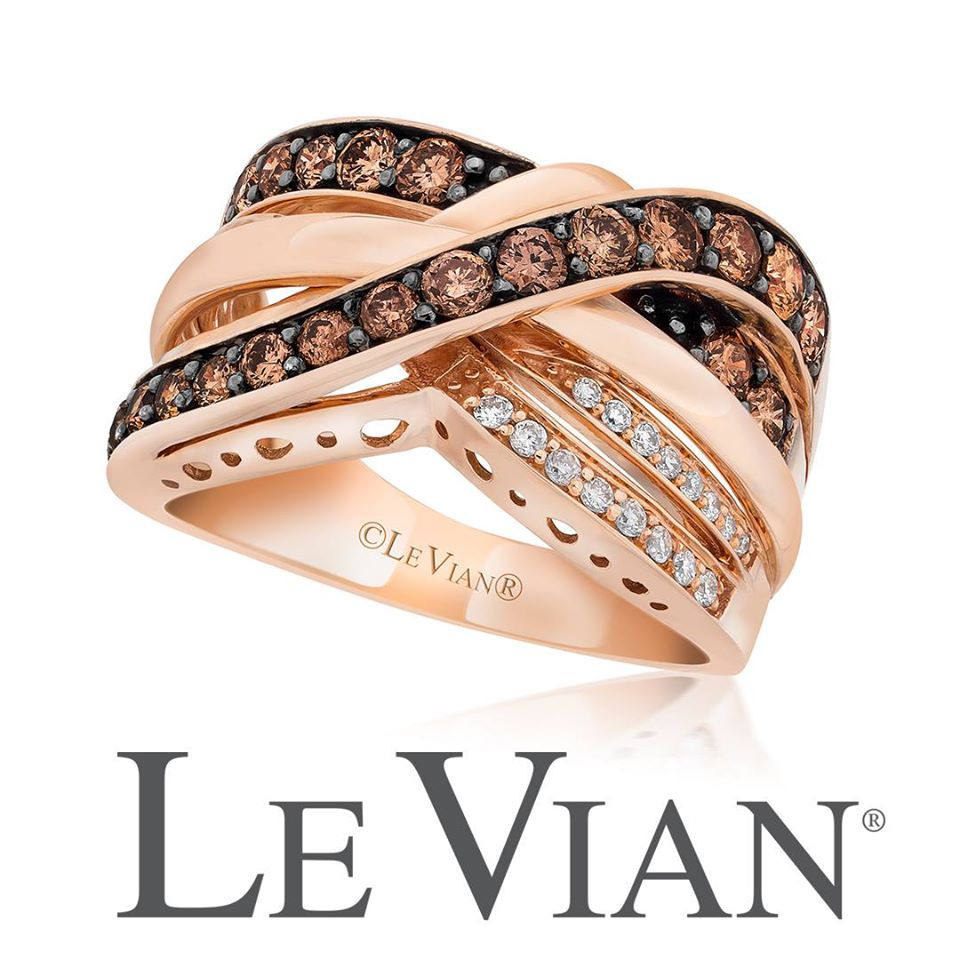 levian gold ring and chocolate and white diamond cross ring