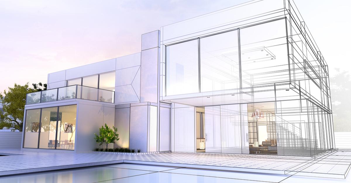 exterior home concept art modern