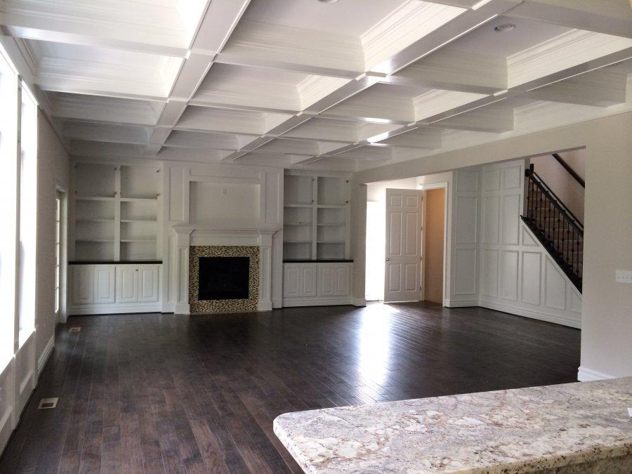 step ceiling inside living room