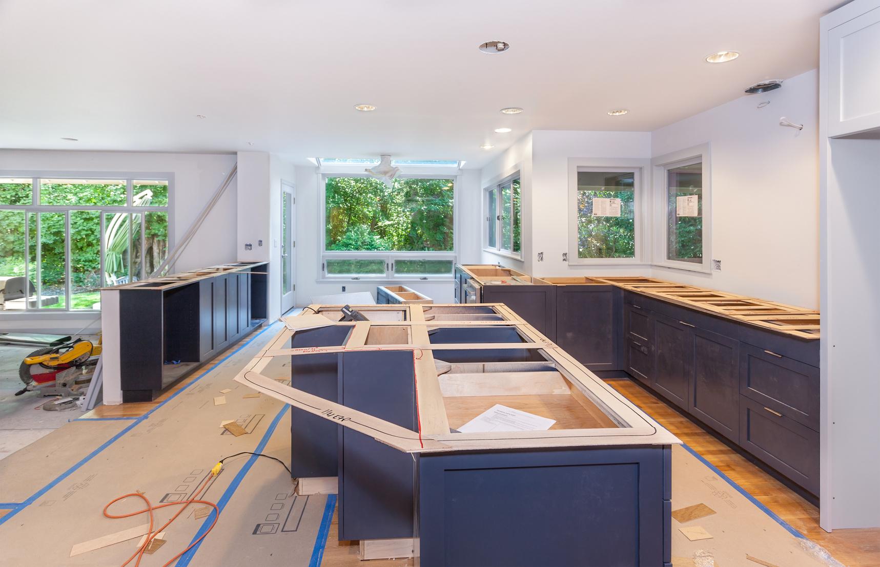 custom kitchen mid build
