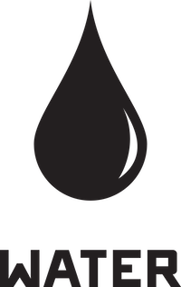 water icon with label