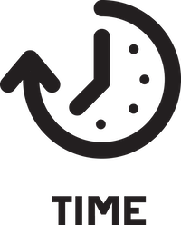 time icon with label