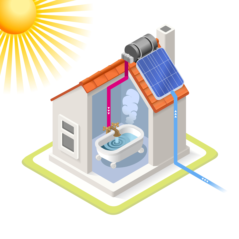 solar heating icon