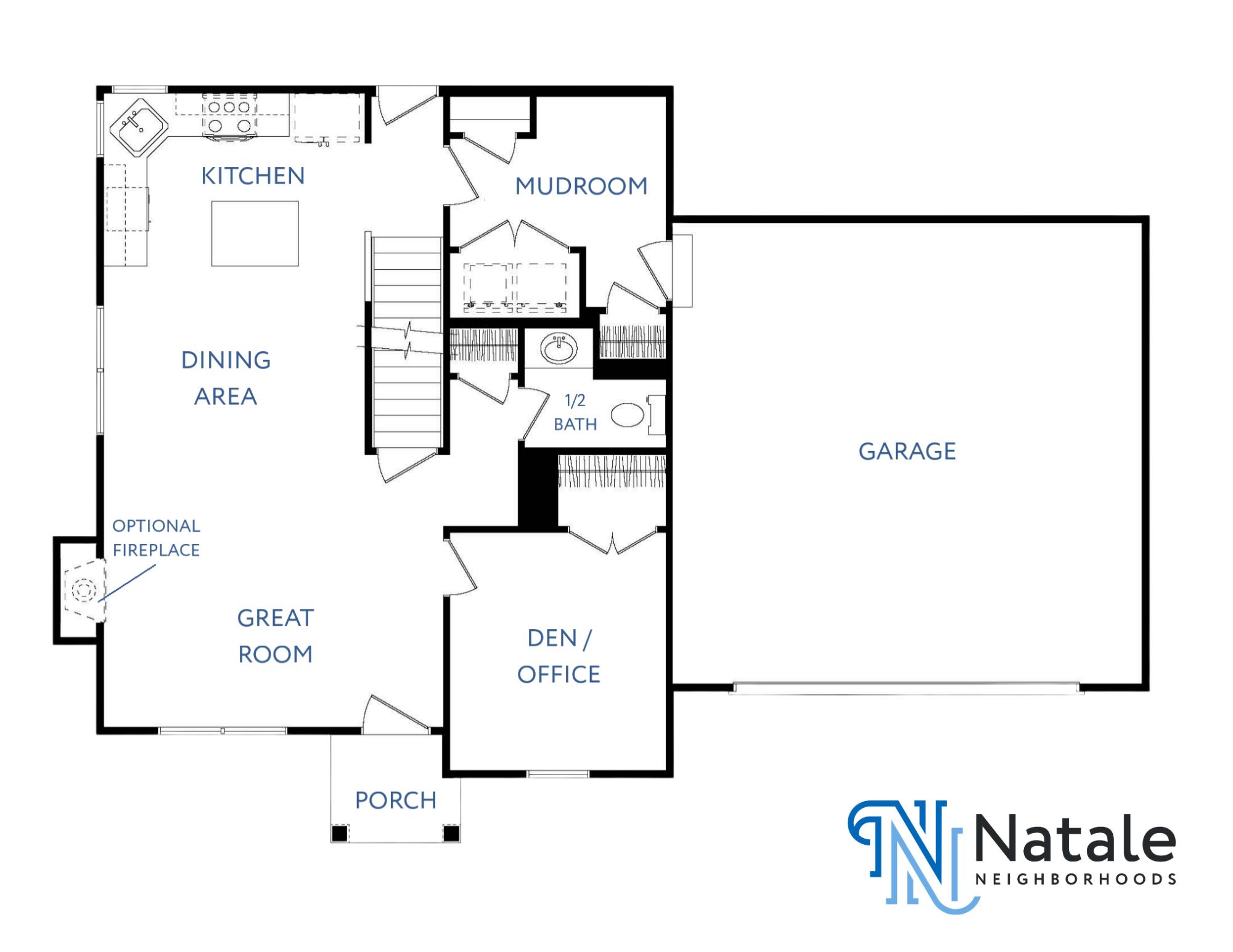 Ashlyn - 1st Floor Floor Plan