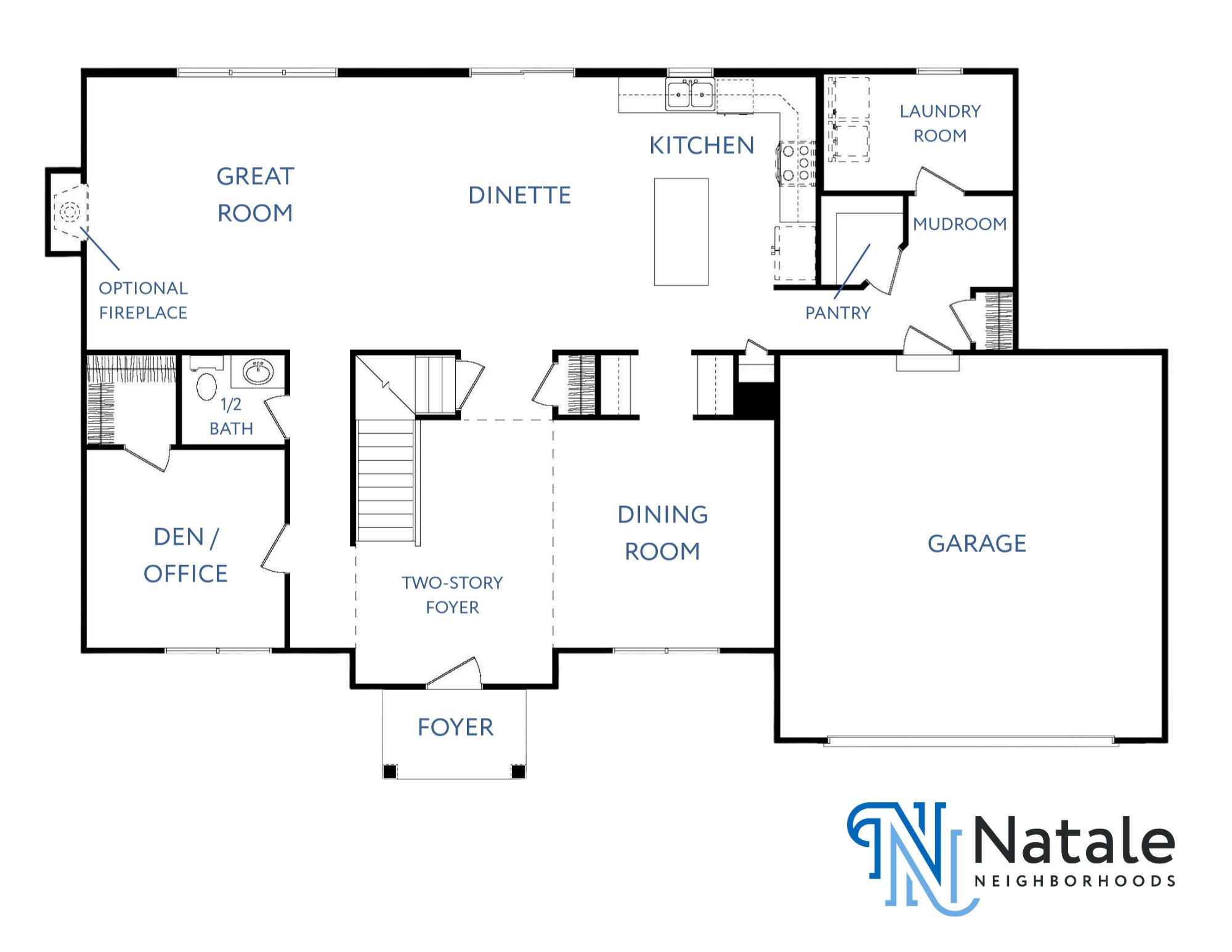 Kenwood - 1st Floor Floor Plan