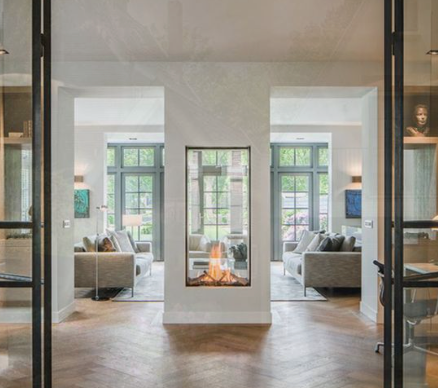 2 sides fireplace