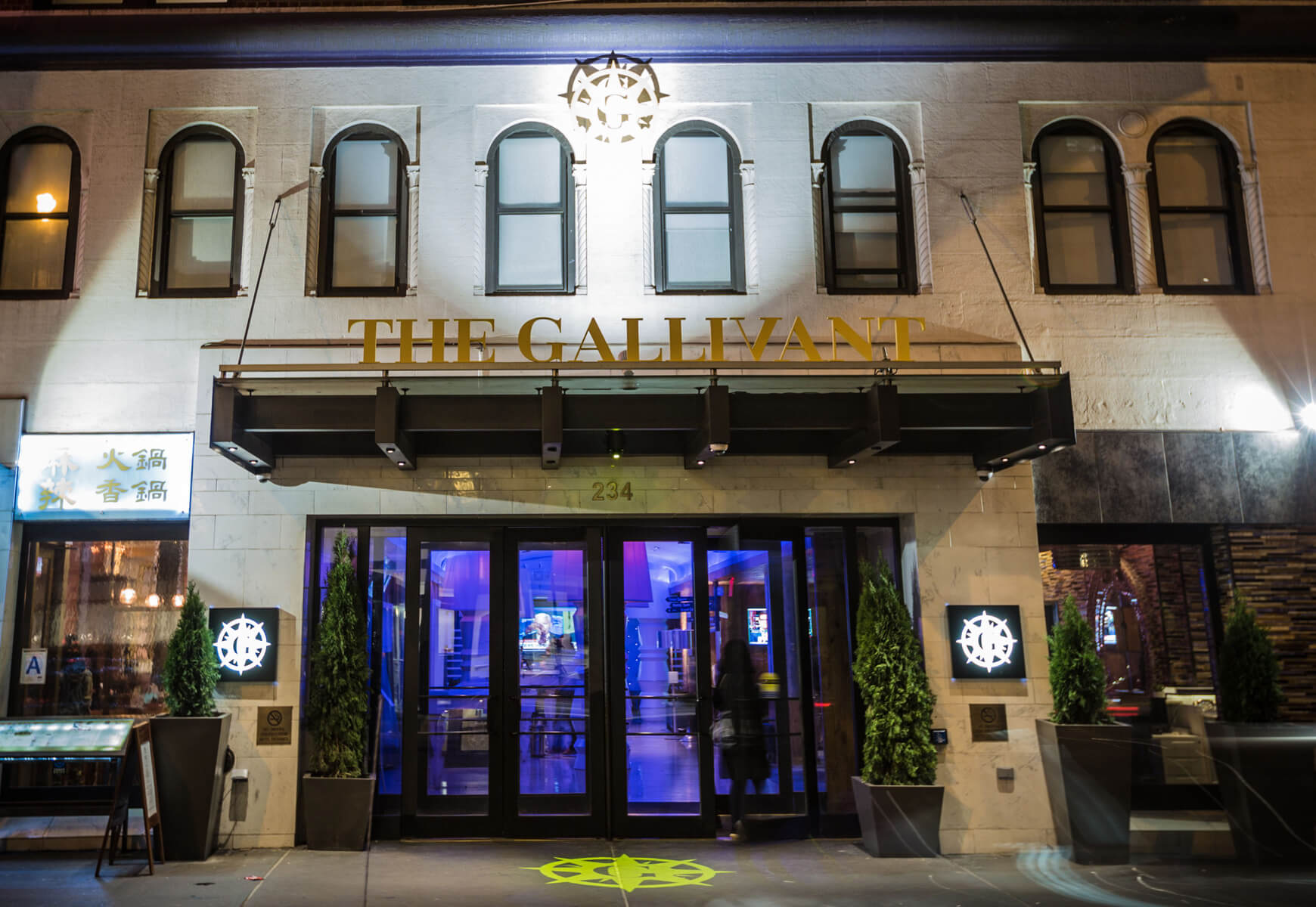 Front entrance of the Gallivant Times Square