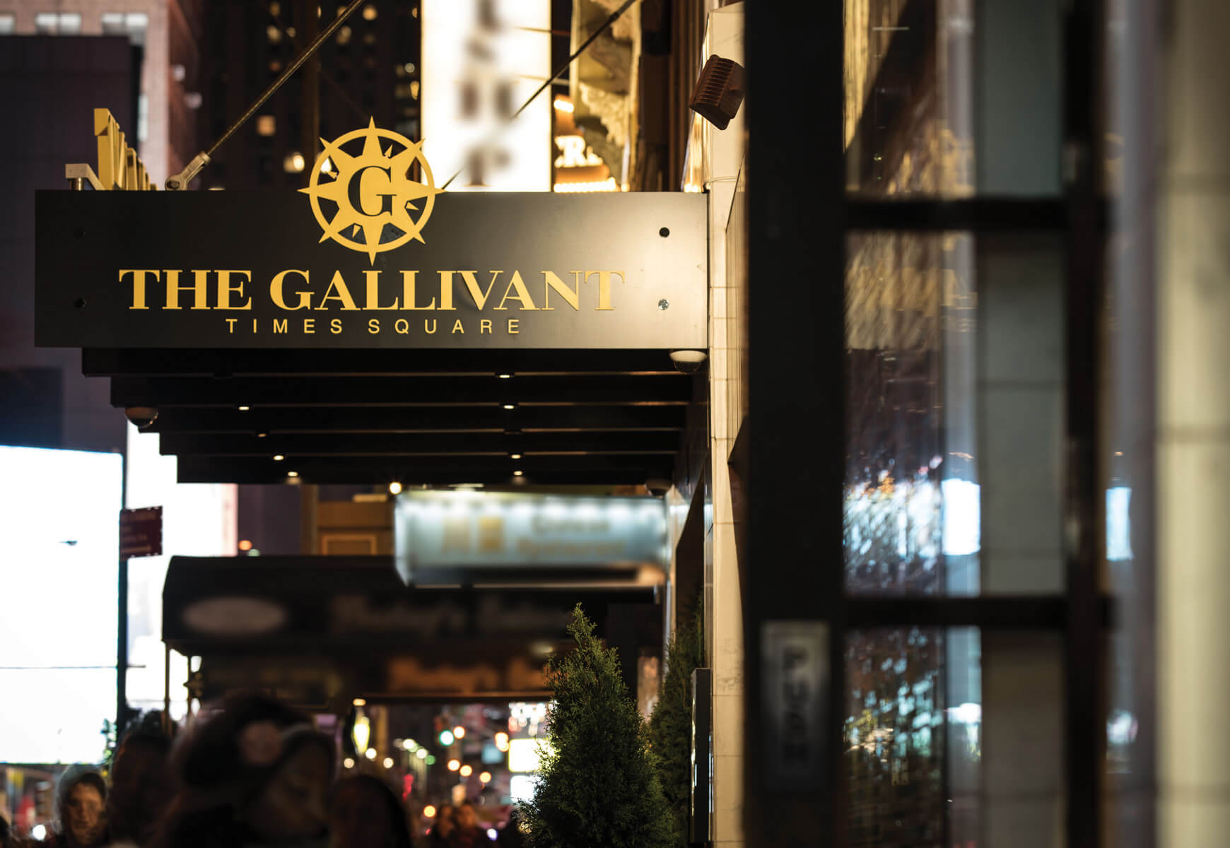 The Gallivant Front entrance as viewed from the sidewalk