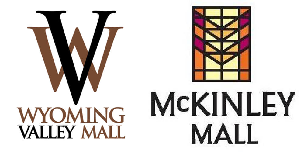 Wyoming Valley Mall and McKinley Mall logos