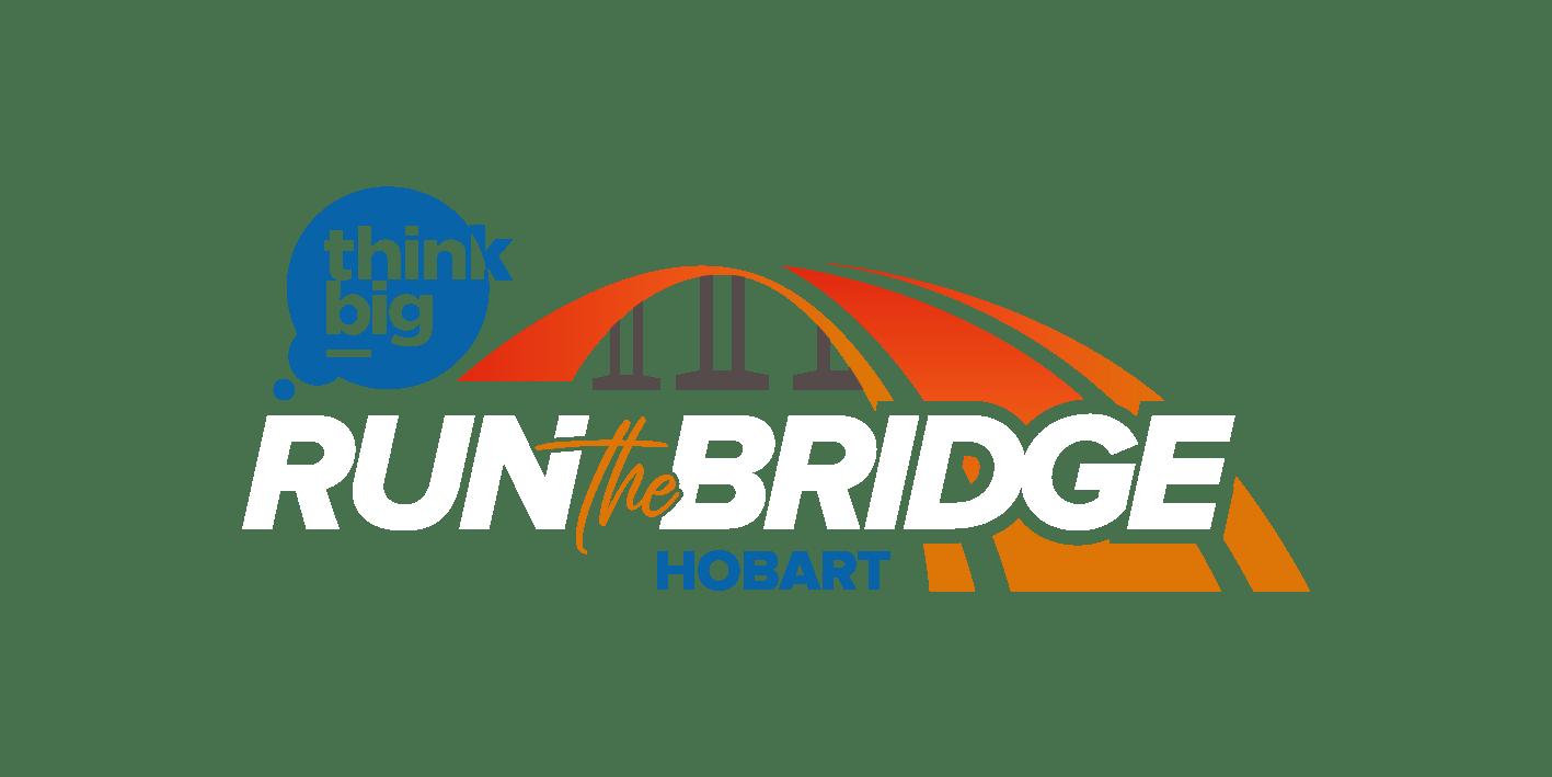 run the bridge logo in colour with white text