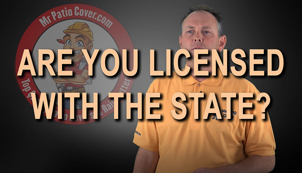 Are you licensed with the State?