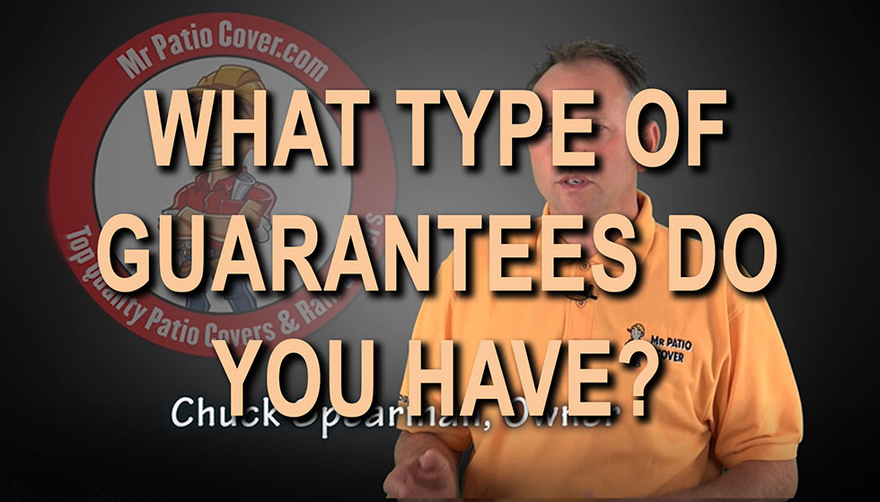 What types of guarantees do you have?