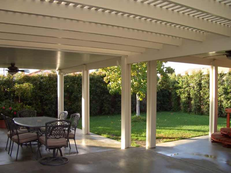 Corona CA home with a new patio cover installed.