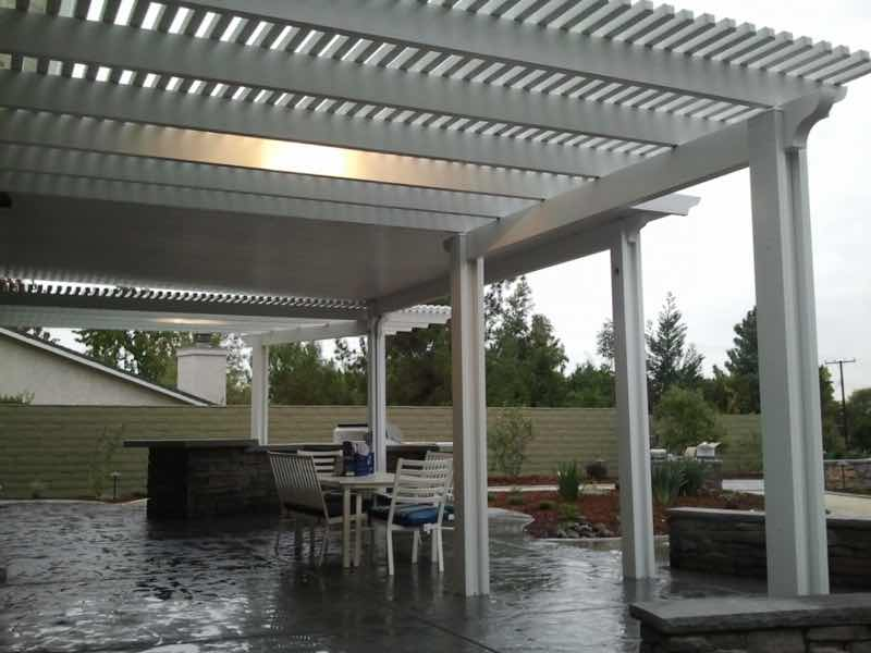 Patio cover installation completed in Upland CA