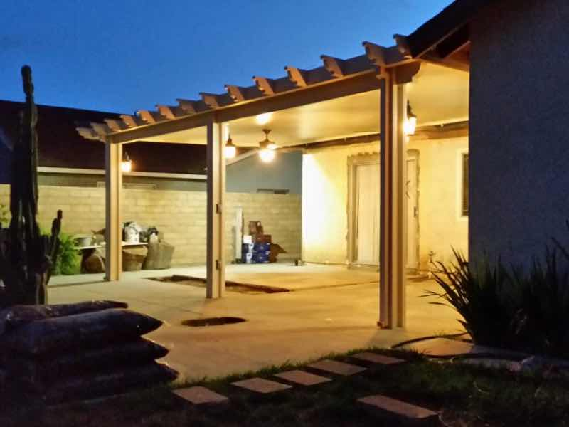 Patio cover installed in Chino CA