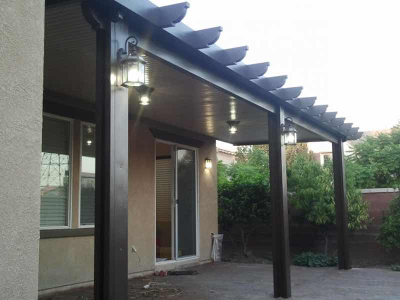 Chino CA home with a new patio cover installed.
