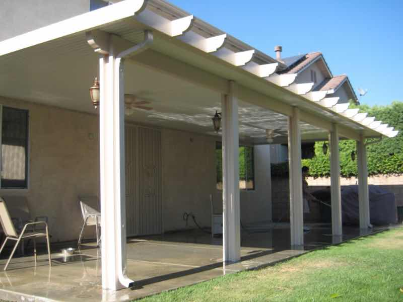 Jurupa Valley CA home with a new patio cover installed.